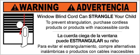 Cord Warning Label