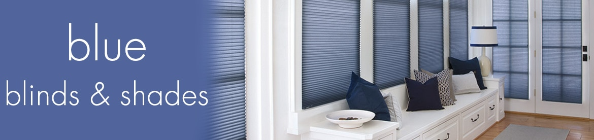 blue blinds and shades