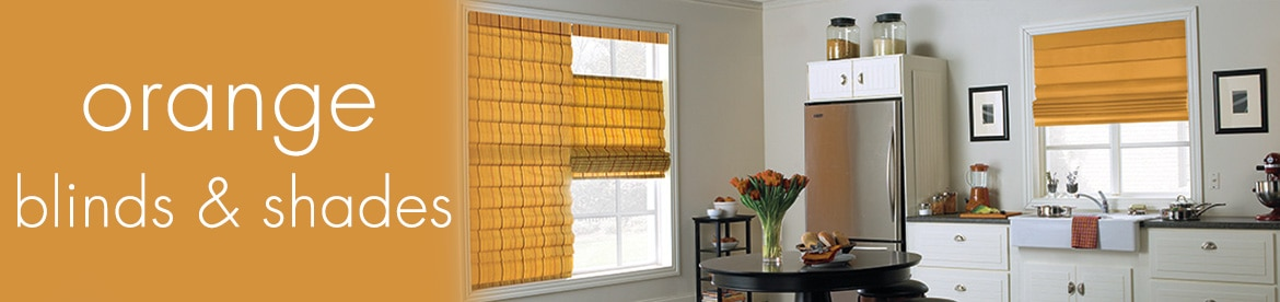 orange blinds and shades