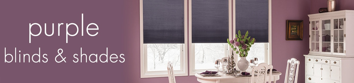 purple blinds and shades