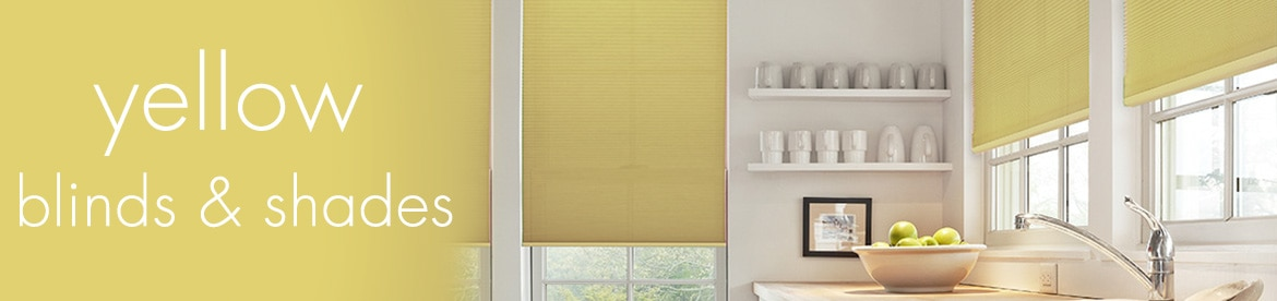 yellow blinds and shades
