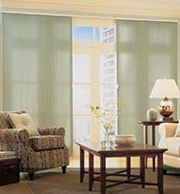 patio door window treatment ideas | blindsgalore.com - Patio Window Curtain Ideas