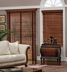 Graber Traditions 2 Wood Blinds Stained and Painted