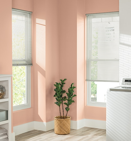 Lightblocker 1 Vinyl Mini Blind Shown In Color Alabaster