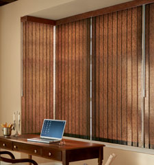 Bali Premium Faux Wood Vertical Blinds