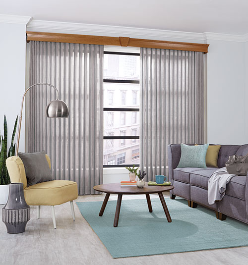 Bali Sheer Enchantment Soft Vertical Blinds in Edon Pearl