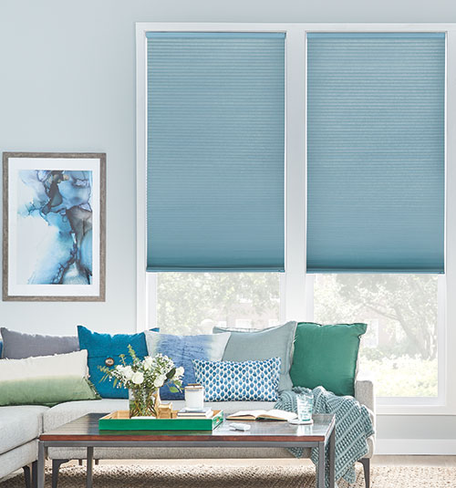 Bali® DiamondCell® Cellular Shades: Northern Lights shown in Oregano