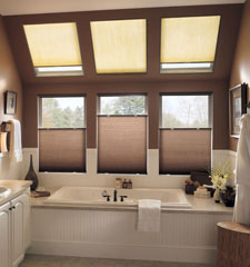 Bali SkyTrack Skylight Shades: Light Filtering