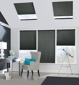 Bali SkyTrack Skylight Shades: Blackout Midnight