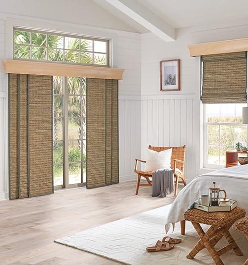 roman shades large windows no sew bali sliding panels natural shades window treatments for large windows blinds
