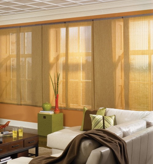 Bali® Sliding Panels shown in Arbor Umber