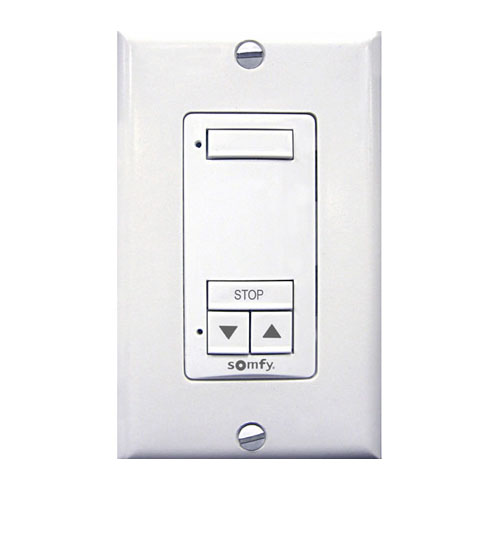 Bali Single Channel RF Wallswitch for Motorized Shades