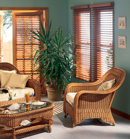 "Bali® Northern Heights 2 1/2"" Shutter Style Wood Blinds shown in Maple"