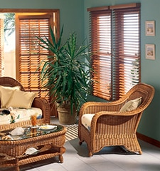 "Bali® Northern Heights 2 1/2"" Shutter Style Wood Blinds"