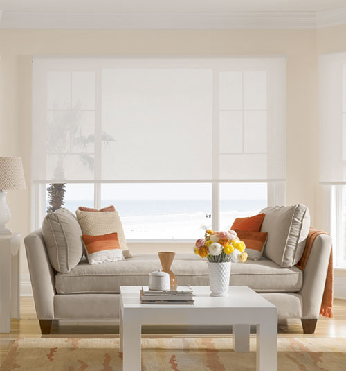 Bali® Solar Shades shown in Caballero: Medallion