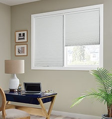 Bali DiamondCell Cellular Shades: Blackout Midnight and Legacy