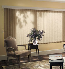 Graber Fabric Vertical Blinds: Brighton