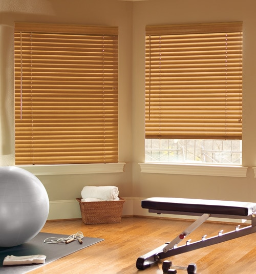 "Levolor® 2"" Classic Wood Blinds shown in Brandy"