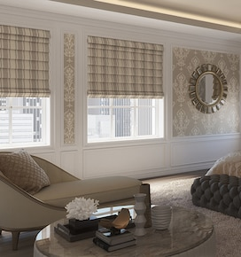 Levolor Roman Shades: Room Darkening Patterns & Textures