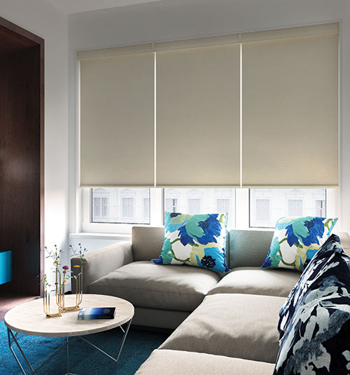 Levolor® Roller Shade: Room Darkening shown in Contemporary Off White