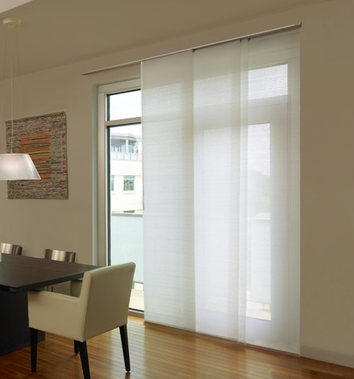 Attractive Levolor® Panel Track Blind: Designer Textures Light Filtering Shown In  Whisper