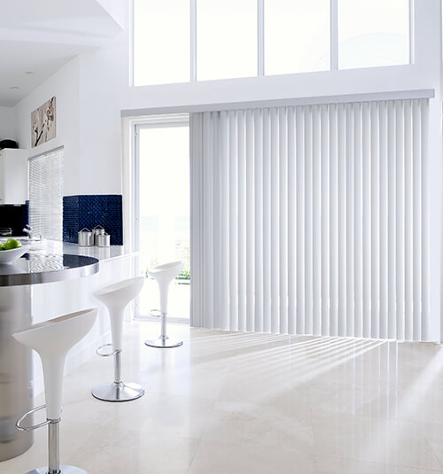 Levolor Vinyl Vertical Blind in Horizon Gray