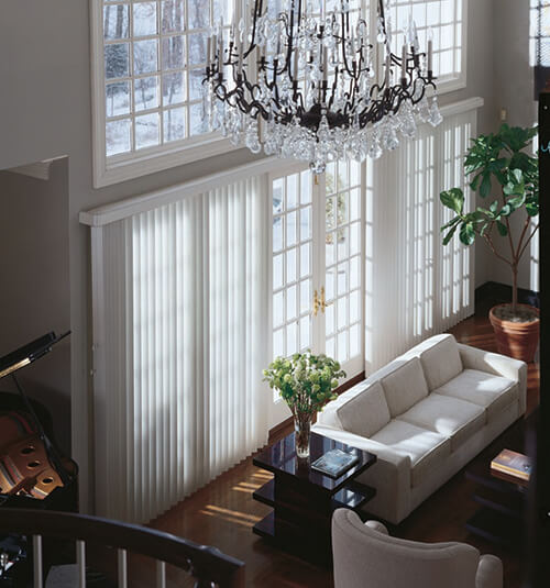 Levolor Fabric Vertical Blind in Amalfi Snow