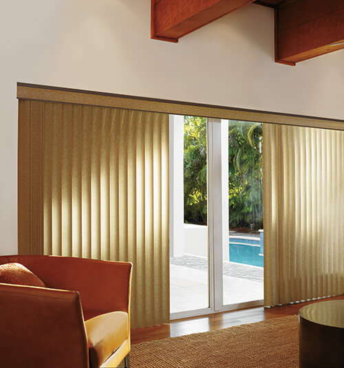 Levolor S Shape Vertical Blind In Vinings Tea