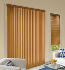 Levolor Visions Faux Wood Vertical Blinds