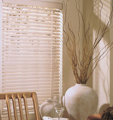 "Riviera 2"" metal blind shown in color Greige"