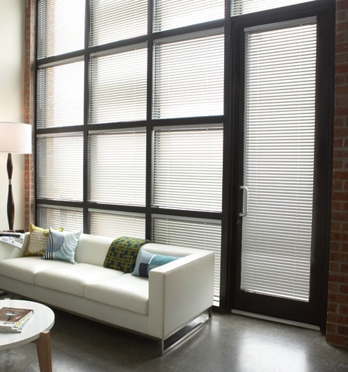 "Levolor® Mark I 1"" 8-Gauge Metal Blinds shown in White"