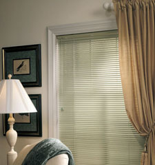 "Riviera One 1"" metal blind shown in color Cactus Sage"
