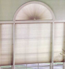 Levolor Accordia Double Cell Designer Colors Light Filtering Perfect Arch Cellular Shade