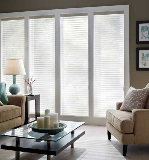 Comfortex Shangri-La 2 Soft Horizontal Shades Eternity & Linen Light Filtering