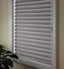 Comfortex Shangri-La 2 Soft Horizontal Shades Moonlight Room Darkening