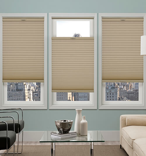 "Comfortex® 1/2"" Single Honeycomb Cellular Shades: Virtuoso Sand Dollar"