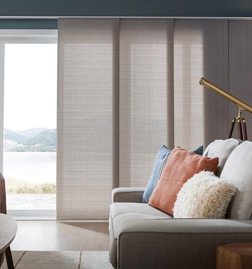 Comfortex Envision Panel Track Blinds Light Filtering Solids