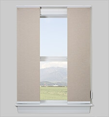 Comfortex Envision Panel Track Blinds: Light Filtering Textures & Patterns
