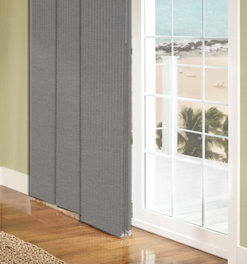 Comfortex envision panel track blinds blackout for Panel tracks for patio doors