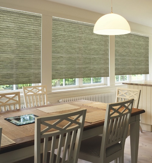 "Simply Chic 3/4"" Light Filtering Cellular Shade: Textures shown in Jute Pepita"