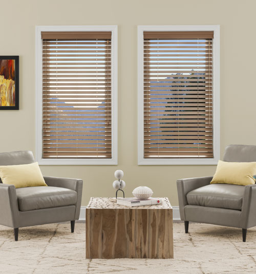 "Kellie Clements Simply Chic 2"" Faux Wood Blinds"