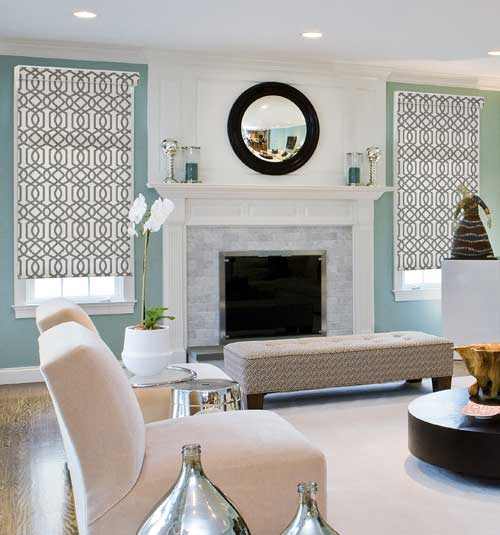 Simply Chic Roller Shade: Patterns shown in Trellis Espresso
