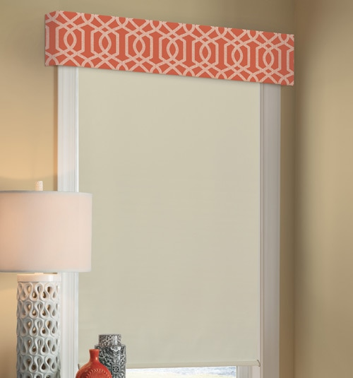 Simply Chic Valance shown in Trellis: Poppy