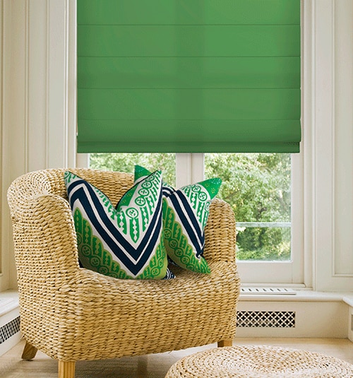 Simply Chic Roman Shade shown in Kellie Green
