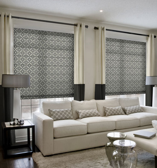 Simply Chic Roman Shade shown in Solitaire: Black Licorice