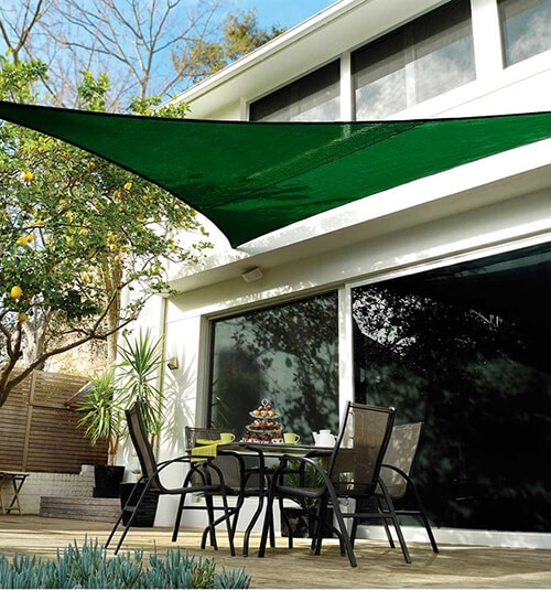 Coolaroo Coolhaven Shade Sail: 12-foot Triangle