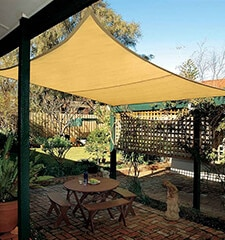 Coolaroo Coolhaven Shade Sail: 12-foot Square