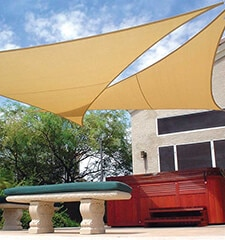 Coolaroo Coolhaven Shade Sail: 18 Foot Triangle