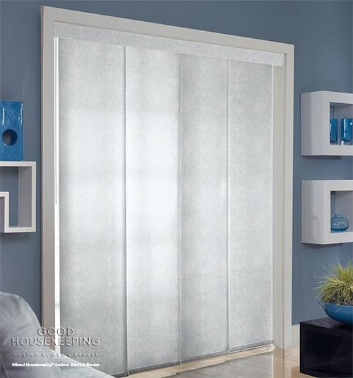 Good Housekeeping Panel Track Light Filtering Blindsgalore
