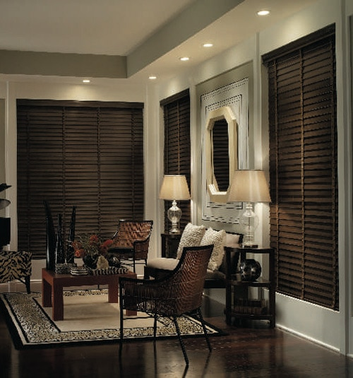 Blindsgalore Premium Wood Blinds: 1 3/8 Slats